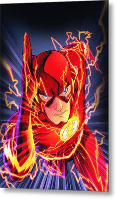 The Flash Metal Print by FHT Designs