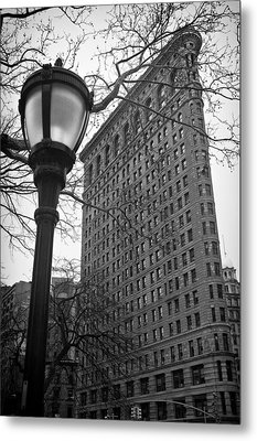 The Flatiron Building In New York City Metal Print by Ilker Goksen