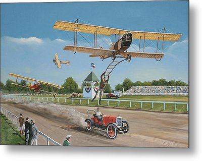 The Flying Circus Metal Print by Kenneth Young