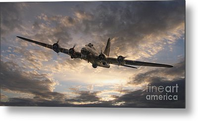 The Flying Fortress Metal Print by J Biggadike