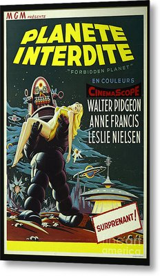 The Forbidden Planet Vintage Movie Poster Metal Print by Bob Christopher