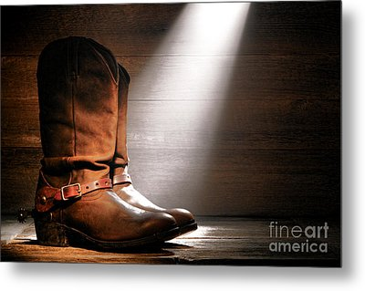 The Found Boots Metal Print by Olivier Le Queinec