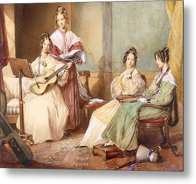 The Four Daughters Of Archbishop Metal Print by George Richmond