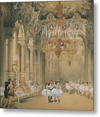 The Foyer Of The Opera During The Interval Metal Print by French School