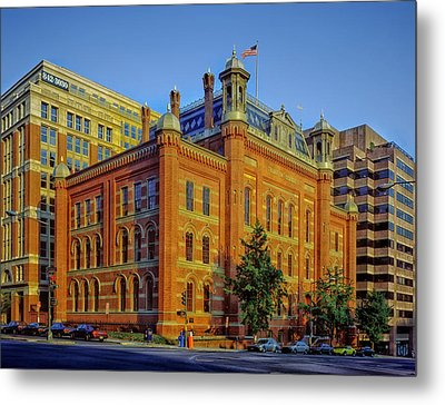 The Franklin School - Washington Dc Metal Print by Mountain Dreams