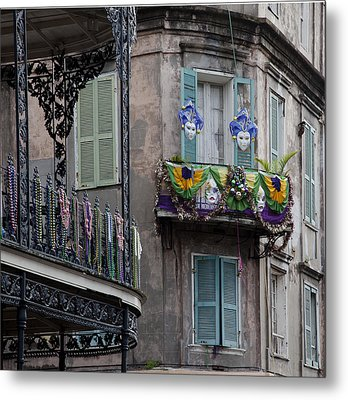 The French Quarter During Mardi Gras Metal Print by Mountain Dreams