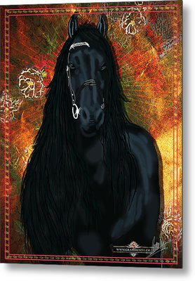 The Friesian Metal Print by Graphicsite Luzern