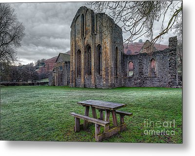 The Frosty Bench Metal Print by Adrian Evans
