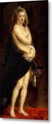 The Fur. Het Pelsken Metal Print by Peter Paul Rubens