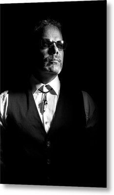 The Gambler Metal Print by Monte Arnold