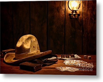 The Gambler Metal Print by Olivier Le Queinec