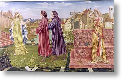 The Garden Of Opportunity Metal Print by Evelyn De Morgan