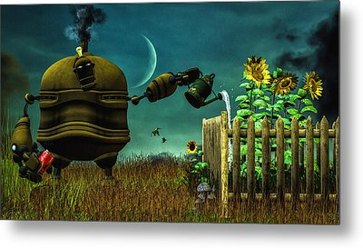 The Gardener Metal Print by Bob Orsillo