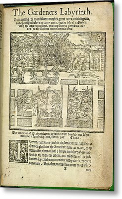 The Gardeners Labyrinth Metal Print by British Library