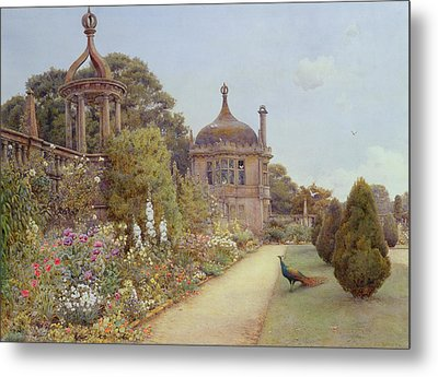 The Gardens At Montacute In Somerset Metal Print by Ernest Arthur Rowe