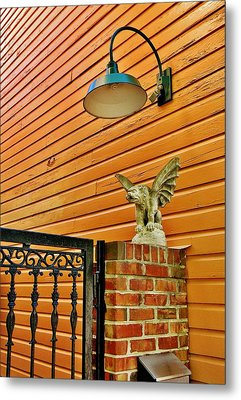 The Gargoyle At The Gate Metal Print by Jean Goodwin Brooks