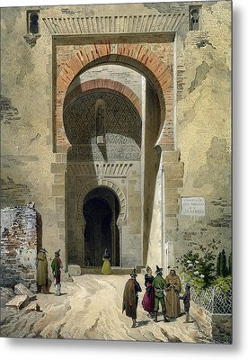 The Gate Of Justice Metal Print by Leon Auguste Asselineau