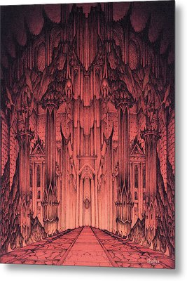 The Gates Of Barad Dur Metal Print by Curtiss Shaffer