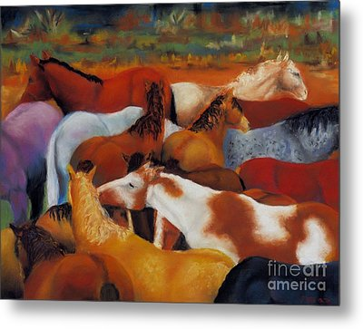 The Gathering Metal Print by Frances Marino