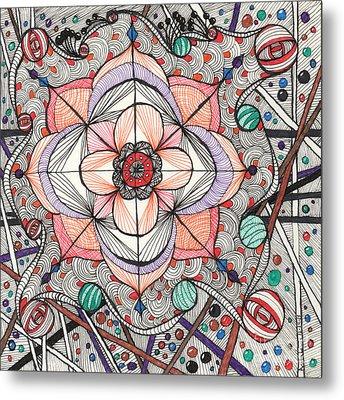 The Gathering Of Colors Metal Print by Anita Lewis