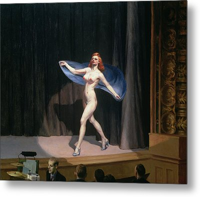The Girlie Show Metal Print by Edward Hopper