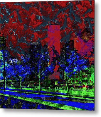 The Glowing City  Metal Print by Jessica MG