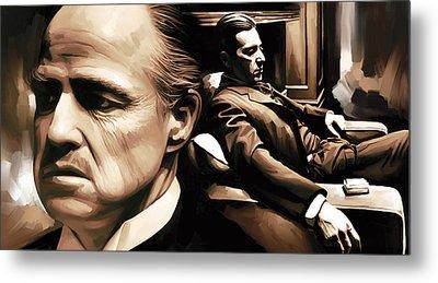 The Godfather Artwork Metal Print by Sheraz A