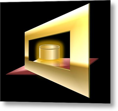 The Golden Can Metal Print by Cyril Maza