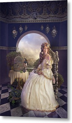 The Golden Room Metal Print by Cassiopeia Art