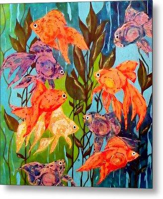 The Goldfish Pond Metal Print by David Raderstorf