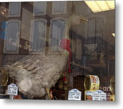 The Humorous Goose Metal Print by France  Art
