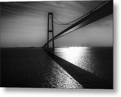 The Great Belt Bridge Metal Print by Erik Brede