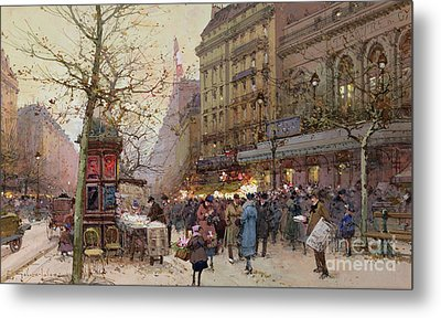 The Great Boulevards Metal Print by Eugene Galien-Laloue