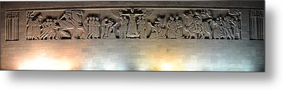 The Great Frieze Liberty Memorial Metal Print by Shelley Wood