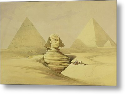 The Great Sphinx And The Pyramids Of Giza Metal Print by David Roberts