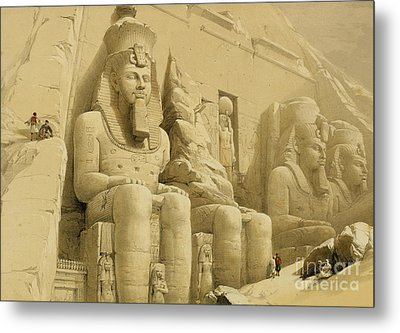 The Great Temple Of Abu Simbel Metal Print by David Roberts