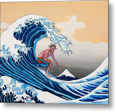 The Great Wave Amadeus Series Metal Print by Dominique Amendola
