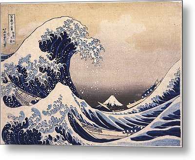 The Great Wave Off The Coast Of Kanagawa Metal Print by Philip Ralley