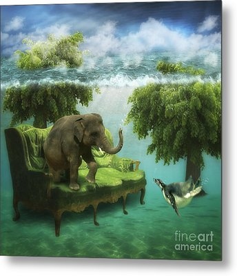 The Green Room Metal Print by Martine Roch