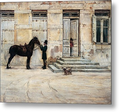The Groom  Metal Print by Giuseppe De Nittis
