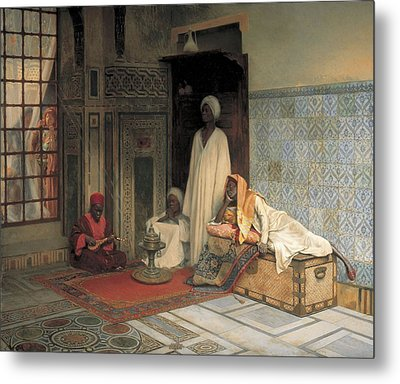 The Guards Of The Harem  Metal Print by Ludwig Deutsch