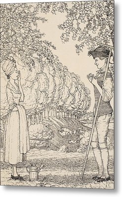 The Happy Agreement Metal Print by Konstantin Andreevic Somov