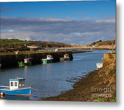 The Harbour At Hayle Cornwall Metal Print by Louise Heusinkveld