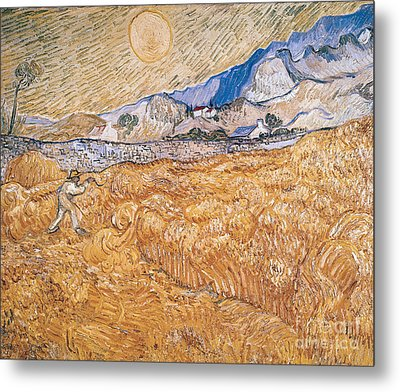 The Harvester Metal Print by Vincent Van Gogh
