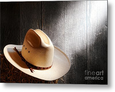 The Hat Metal Print by Olivier Le Queinec