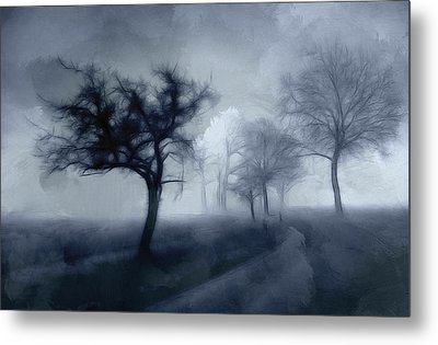 The Haunted Road Metal Print by Stefan Kuhn