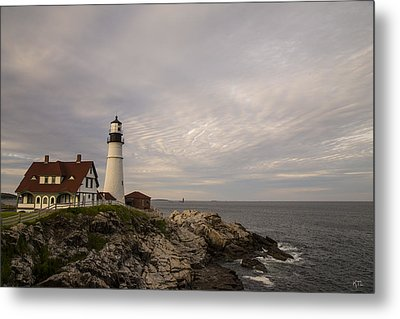 The Head Light Metal Print by Karol Livote
