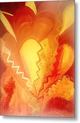 The Heart Metal Print by Mary Wismer