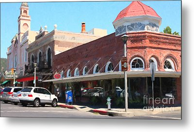 The Heart Of Sonoma California 5d24484 Long Metal Print by Wingsdomain Art and Photography