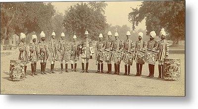 The Heralds And Trumpeters Metal Print by British Library